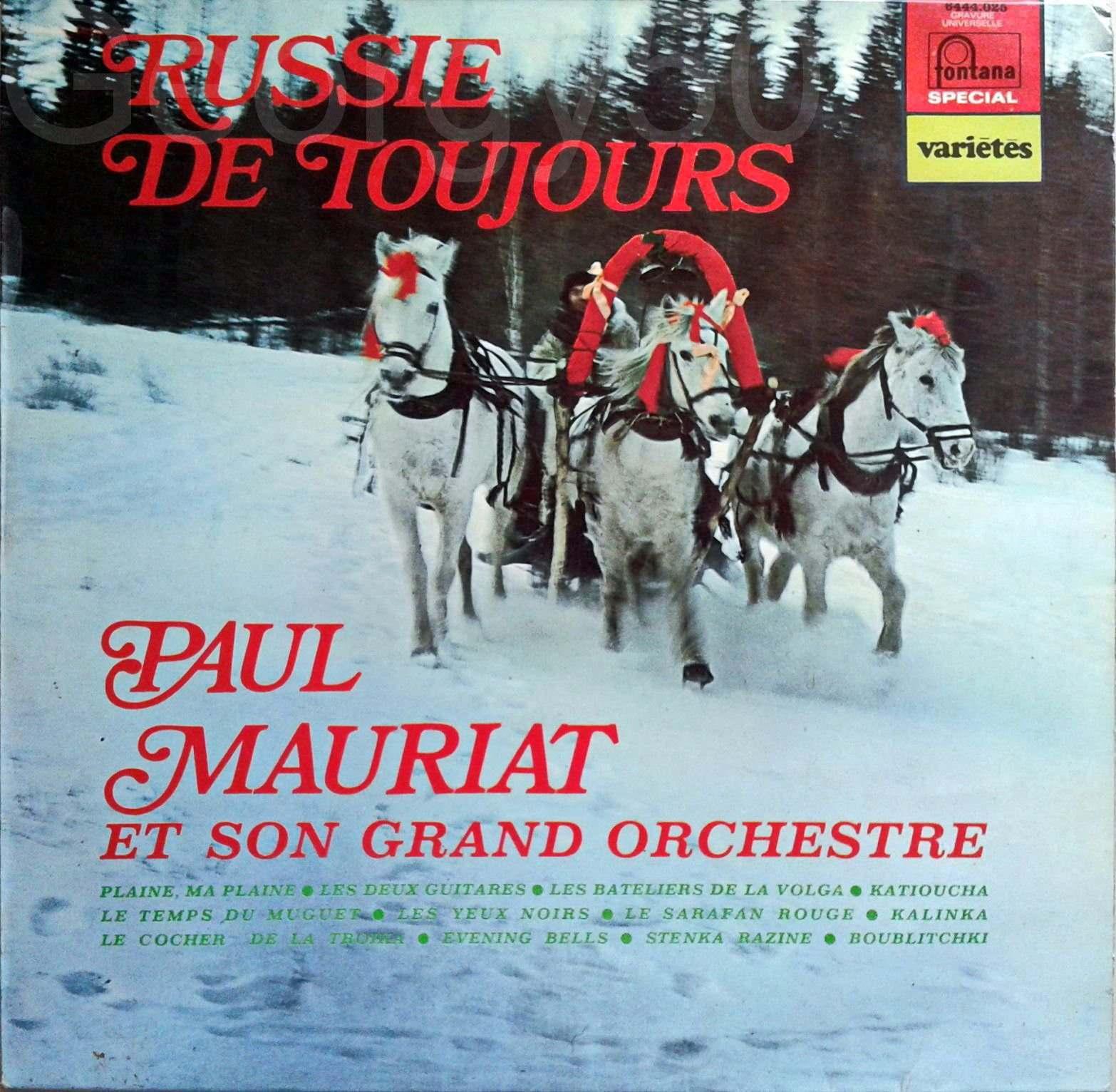 Le Grand Orchestre De Paul Mauriat – Russie De Toujours front.jpg