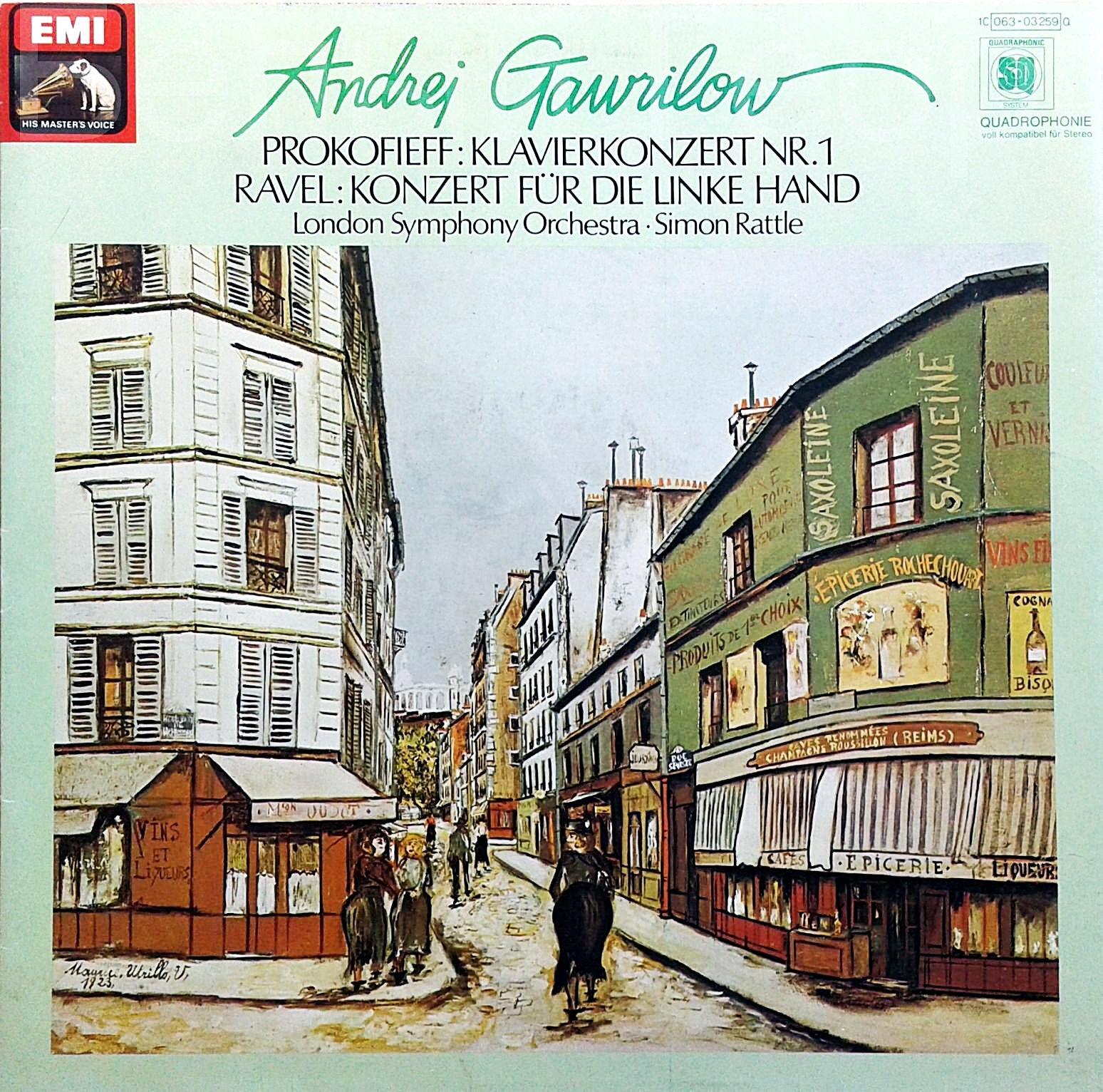 Andrej Gawrilow, Prokofiev, Ravel, The London Symphony Orchestra Klavierkonzert Nr. 1 / Konzert Fur Die Linke Hand