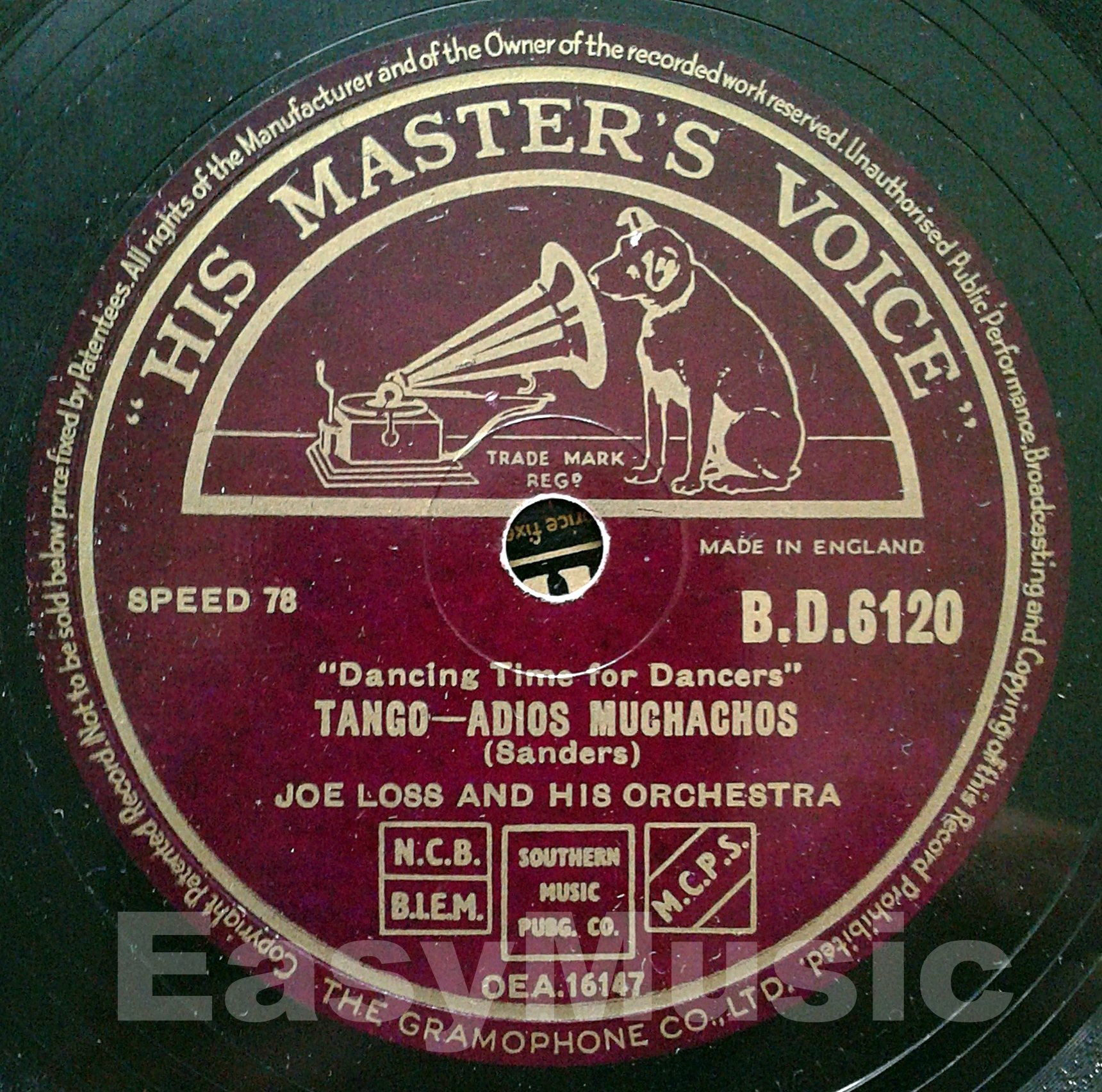Saturday's concert on 78 rpm