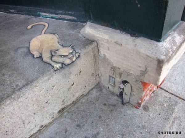Кот и мышь на ступеньках.jpg